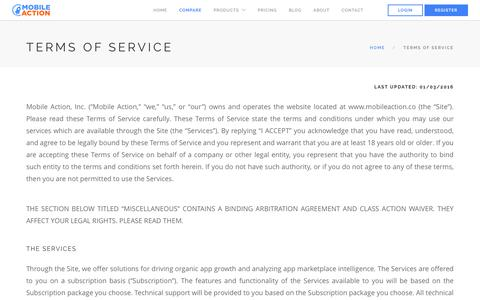 Mobile Action - Terms of Service