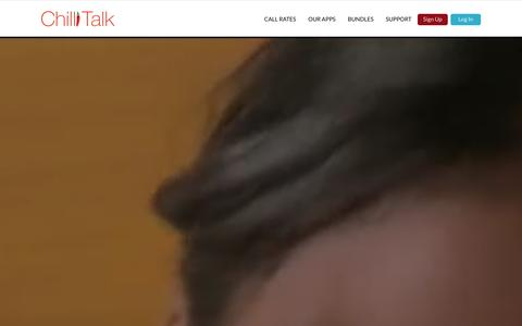 Screenshot of Home Page chillitalk.com - Chillitalk | Why talk when you can Chillitalk? - captured Jan. 14, 2016