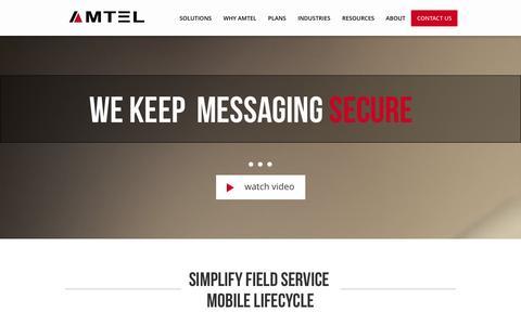 Screenshot of Jobs Page amtelnet.com - Mobile Security | Secure Communications | TEM | Amtel - captured Sept. 19, 2014