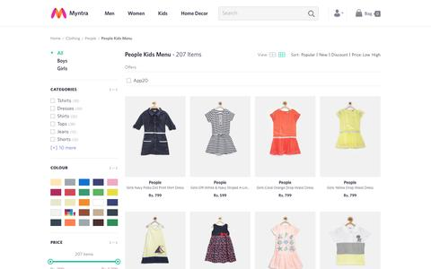 Screenshot of Team Page myntra.com - People Kids Menu - Buy People Kids Menu online in India - captured June 6, 2016