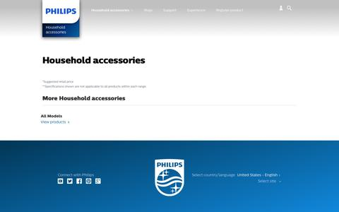 Screenshot of philips.com - Household accessories. Discover the full range | Philips - captured Dec. 8, 2016