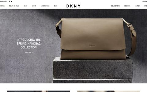Screenshot of Home Page dkny.com - DKNY - Designer Clothing & Fashion - DKNY - captured Feb. 9, 2016