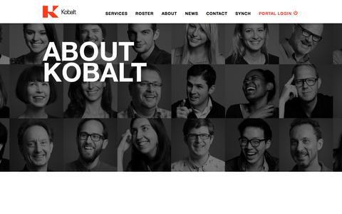 Screenshot of About Page kobaltmusic.com - About | Kobalt - captured Oct. 2, 2015