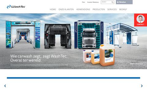Screenshot of Home Page washtec.nl - WashTec (NL) - captured Oct. 18, 2018