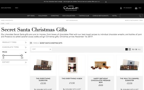 Secret Santa Gifts by Hotel Chocolat