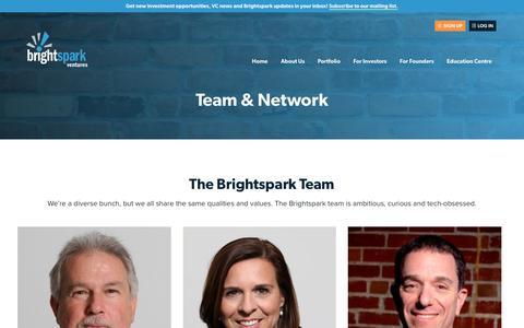 Screenshot of Team Page brightspark.com - Team & Network   Brightspark Ventures - captured June 3, 2017