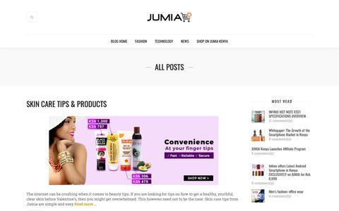 Screenshot of Blog jumia.co.ke - Jumia Blog Kenya - Kenya's #1 Online Marketplace - captured Feb. 7, 2019