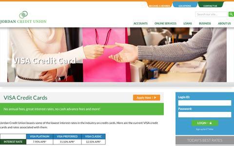 Screenshot of Home Page jordan-cu.org - Visa Credit Card |Jordan Credit Union - captured Aug. 5, 2015