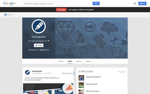 Screenshot of Google Plus Page google.com - Vectorgraphit - Google+ - captured Oct. 26, 2014