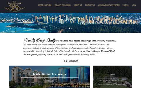 Screenshot of About Page royalty.ca - About | Royalty Group Realty - captured Feb. 27, 2018