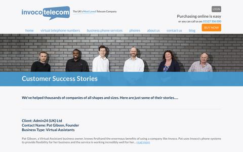 Screenshot of Case Studies Page invoco.net - Invoco - Customer Success Stories - captured Nov. 26, 2016