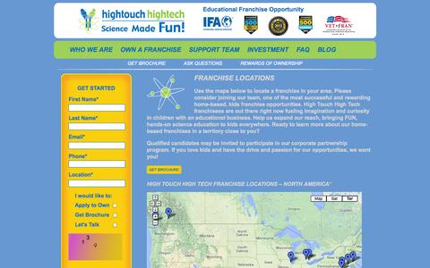 Screenshot of Locations Page sciencemadefunfranchise.net - Kids Franchise Opportunities Available from Science Made Fun Franchise - captured Oct. 3, 2014
