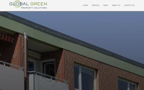 Screenshot of Home Page goingglobalgreen.com - Home - Going Global Green - captured Jan. 29, 2016