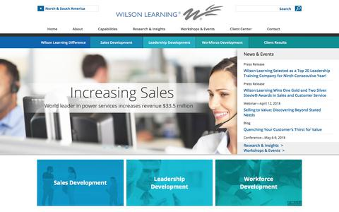 Leadership Development, Sales Training, Workforce Development | Wilson Learning Worldwide