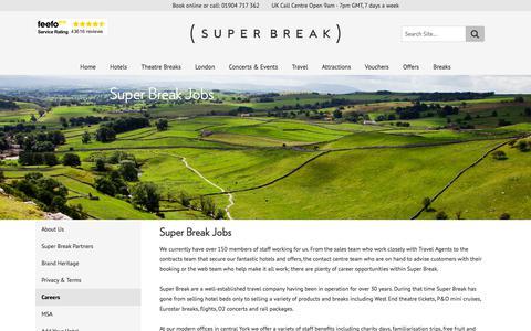 Screenshot of Jobs Page superbreak.com - Super Break Jobs   SuperBreak - captured Sept. 21, 2018
