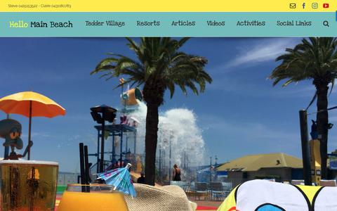 Screenshot of Home Page hellomainbeach.com.au - Hello Main Beach - HelloMainBeach - captured Sept. 29, 2018
