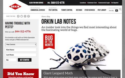 Screenshot of Blog orkin.com - Orkin Lab Notes - Orkin - captured March 30, 2017
