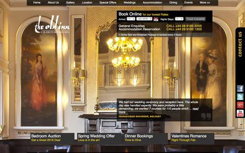 Screenshot of Home Page theoldinn.com - Best 4 Star Hotel Northern Ireland | Luxury Hotels NI - captured Jan. 11, 2016