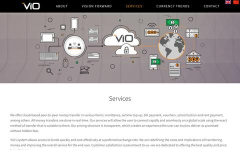 Screenshot of Services Page vio.ca - Services   Vio Commerce Inc - captured Oct. 21, 2017