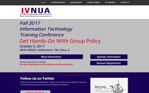Screenshot of Home Page ivnua.org - Illinois Valley Network Users Association - captured Oct. 3, 2017