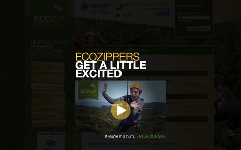 Screenshot of Pricing Page ecozipadventures.co.nz - Experience Prices - EcoZip Adventures - captured Oct. 23, 2016
