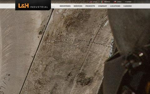 Screenshot of Home Page lnh.net - L&H Industrial | Servicing Mining, Oil, Gas and Railroad - captured Jan. 23, 2016