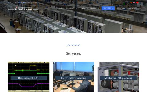 Screenshot of Services Page simatex.ch - Simatex AG - Services - captured Nov. 7, 2018