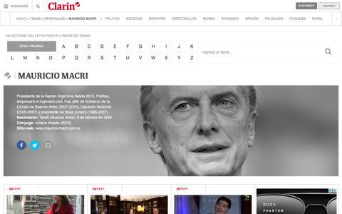 Mauricio Macri – Clarín.com