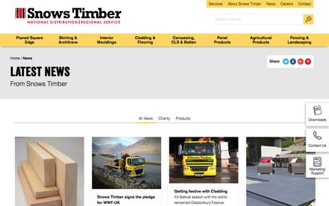 Screenshot of Press Page snowstimber.com - News from Snows Timber - captured July 7, 2017