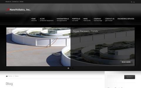 Screenshot of Blog mattium.com - Blog | NanoVoltaics, Inc. - captured Oct. 27, 2014