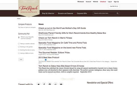 Screenshot of Press Page tornranch.com - Torn Ranch - captured Oct. 1, 2014