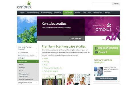 Screenshot of Case Studies Page ambius.nl - Microfresh geuren studies cases- Ambius - captured Oct. 8, 2017