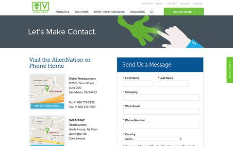 Contact AlienVault