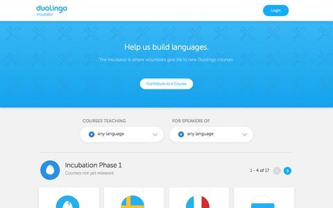Duolingo: Incubator