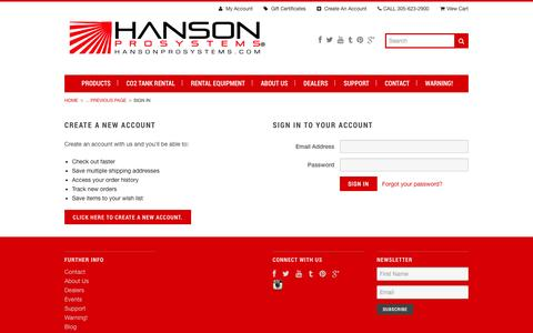 Screenshot of Login Page mybigcommerce.com - HansonProSystems.com - Sign in - captured Oct. 22, 2014