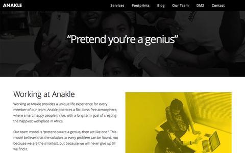 Screenshot of Team Page anakle.com - Working at Anakle | Anakle - captured Feb. 6, 2016