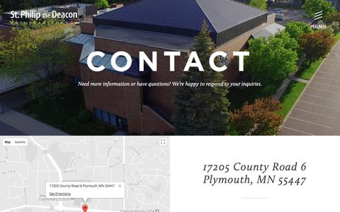 Screenshot of Contact Page spdlc.org - Contact «  St. Philip The Deacon - captured Oct. 24, 2017