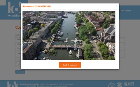Screenshot of Contact Page woonboot.nl - Contact opnemen - captured Nov. 30, 2018