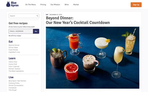 Screenshot of blueapron.com - Our New Year's Cocktail Countdown | Blue Apron Blog - captured Dec. 28, 2016