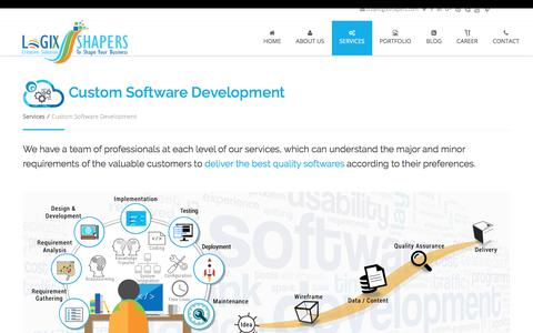 Screenshot of Services Page logixshapers.com - Custom Software Application Development Company | Software Development Services - Logix Shapers - captured July 9, 2018