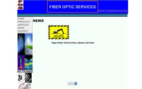 Screenshot of Press Page foservice.com - FIBER OPTIC SERVICES - NEWS - captured Oct. 6, 2014