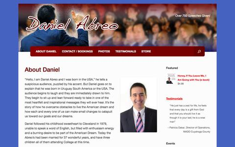 Screenshot of About Page danielabreo.com - About Daniel – Daniel Abreo - captured Aug. 8, 2017