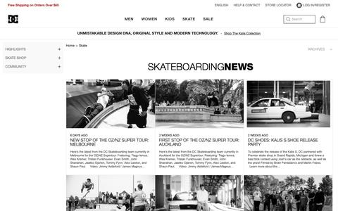 Screenshot of Press Page dcshoes.com - Skateboarding News from    | DC Shoes - captured March 3, 2019