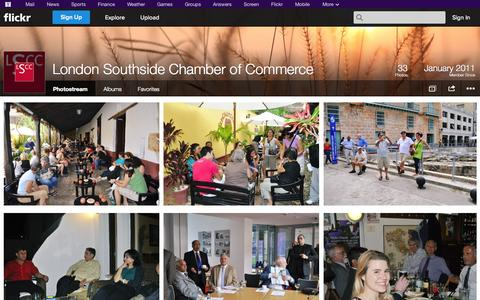 Screenshot of Flickr Page flickr.com - Flickr: London Southside Chamber of Commerce's Photostream - captured Nov. 5, 2014
