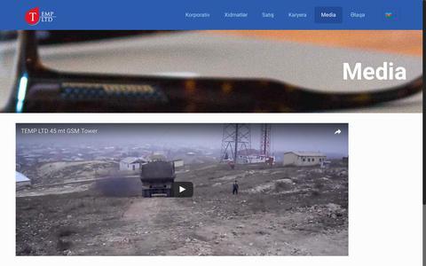 Screenshot of Press Page templtd.az - Media – Temp Ltd - captured June 20, 2017