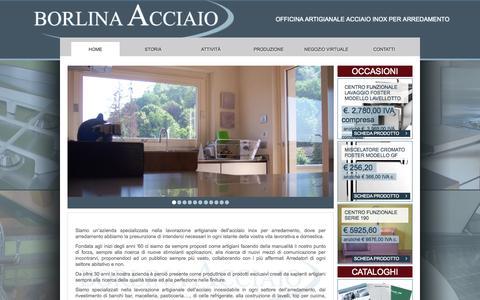 Screenshot of Home Page borlina.it - Cucine acciaio inox e top acciaio inox - captured Oct. 5, 2014