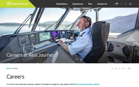 Screenshot of Jobs Page realjourneys.co.nz - Real Journeys NZ: Careers, employment, latest jobs, crew, tourism - captured Dec. 5, 2016