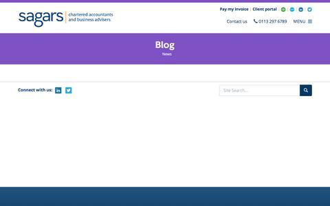 Screenshot of Blog sagars.co.uk - Blog Leeds : Sagars - captured Sept. 27, 2017