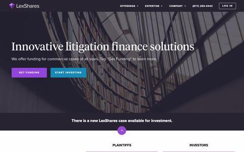Screenshot of Home Page lexshares.com - (1) New Message! - captured March 31, 2019