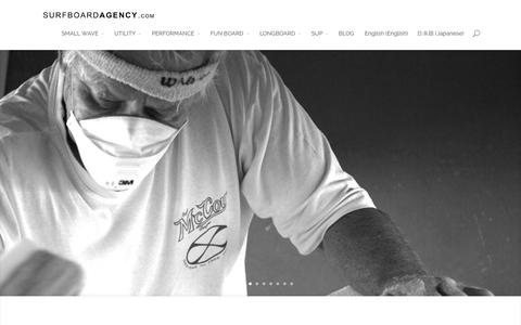 Screenshot of Home Page surfboardagency.com - The Surfboard Agency | The Finest Hand Crafted Surfboards Available From The Worlds Best Shapers | - captured Nov. 13, 2015